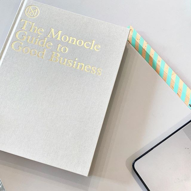 Our current read: The Monocle Guide to Good Business :) #gestalten @gestalten @monoclemagazine