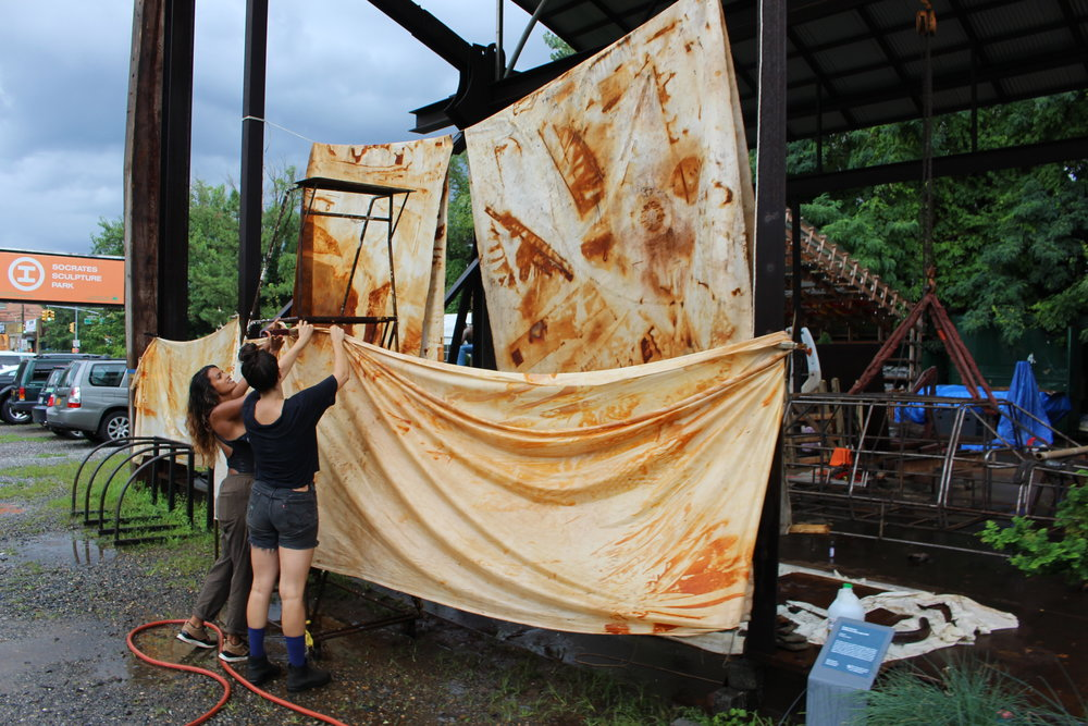 Rust dye workshop, summer 2018