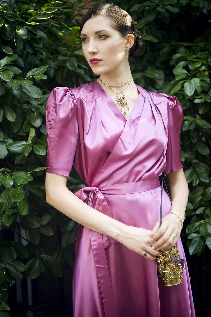 1930s Pink Satin Wrap Dress_ladyfied.jpg