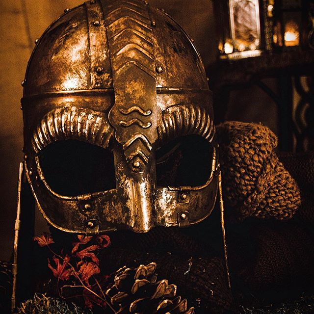 Helmet by art director Eric Propp. #TYRFING #vikings #helmet #artdirection #costumedesign #shortfilm