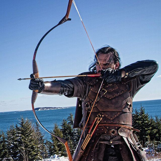 Good shot of the craftsmanship of Ovar-Odd's armor. #TYRFING #vikings #vikingspirit #norwegianstyle #got #lordoftherings #costumedesign #archery