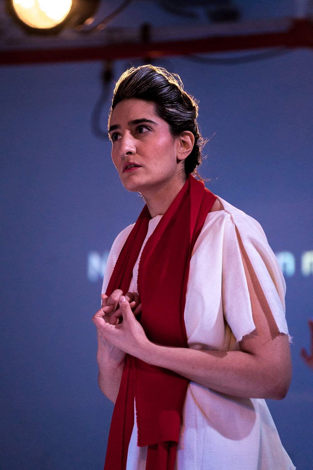 Aumna Iqbal as Orfeo. Photo credit: Lucas Godlewski