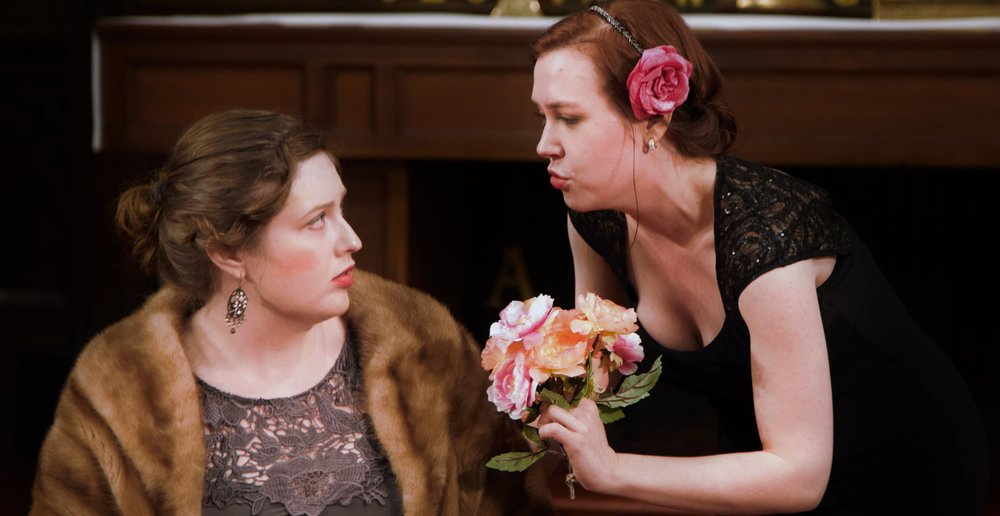 Mary Kathryn Monday as Queen Gertrude and Lydia Dahling as Ophelia in Ophelia Transformed. Photo credit: Samer Ghanem