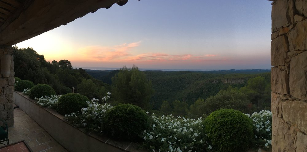View at LuxYoga, France. Photo courtesy of Mary Kathryn Monday