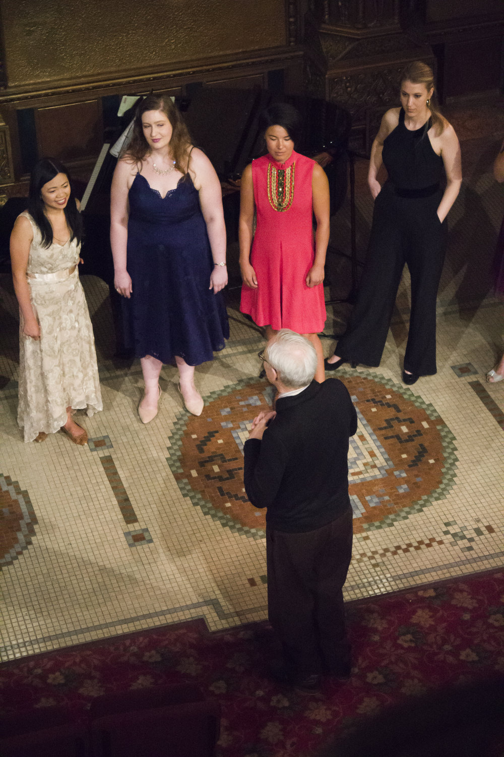 Joyce Yin, Mary Kathryn Monday, Brittany Fowler, Tara Gruszkiewicz, and William Lewis at Far and Near. June 2018. Photo credit: Laura Mitchell