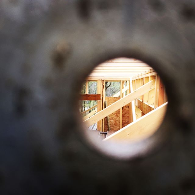 View through structural steel. #377builders