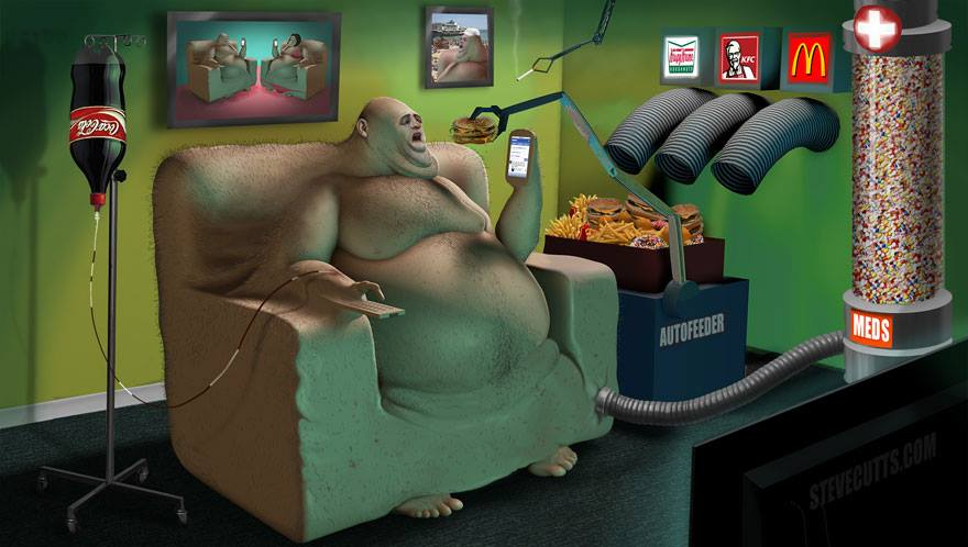 Illustrated by Steve Cutts.