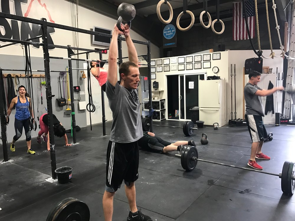 Matt Killing some American Kettle Bell Swings