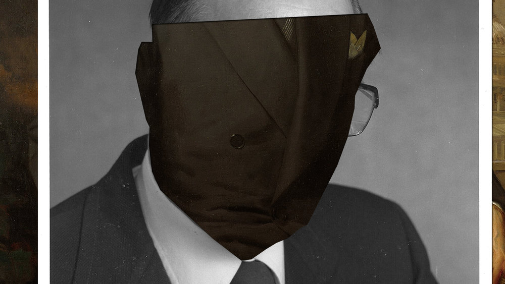 THE MAN I ONCE KNEW - printed collage - dimensions variable