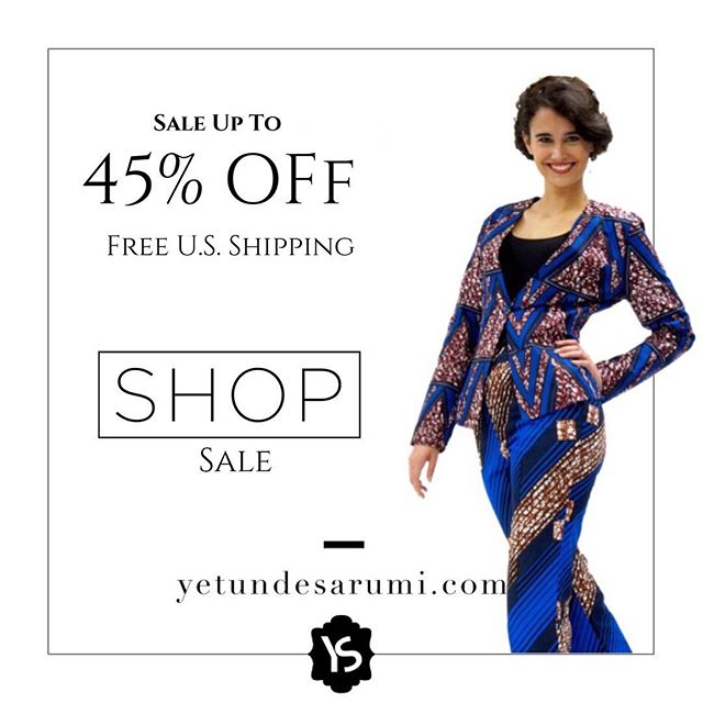 Shop SALE.. up to 45% off. You can also apply your coupon code from subscribing to our site for an even bigger #discount. #limitedsizesleft Shop YetundeSarumi.com #linkinbio