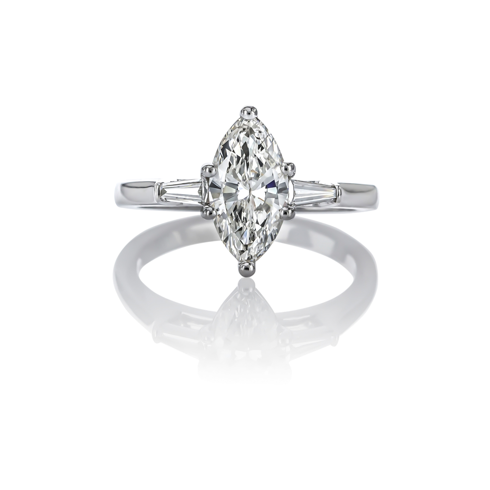 CUSTOM MARQUISE DIAMOND ENGAGMENT RING