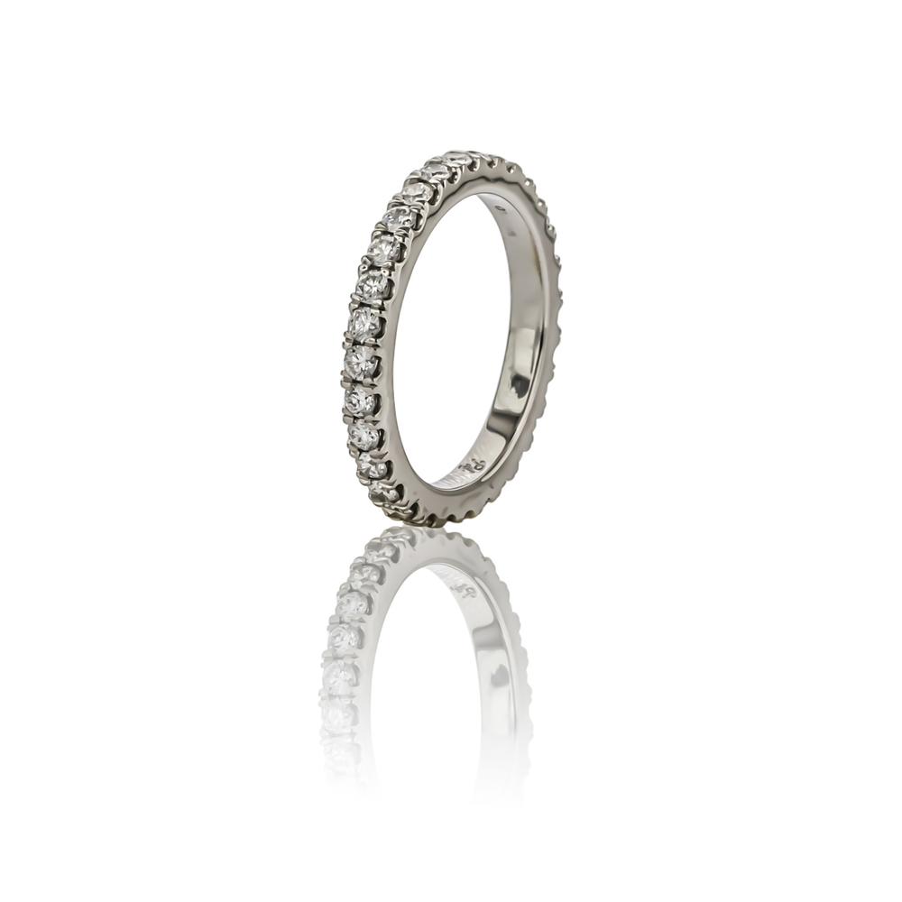 CUSTOM FISHTAIL SET DIAMOND ETERNITY BAND