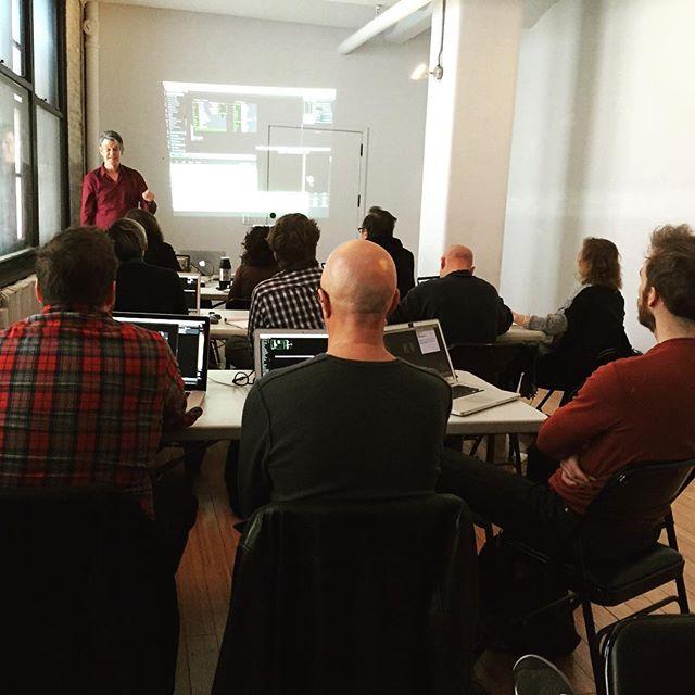 Workshop underway with Mark Coniglio #medialounge2015