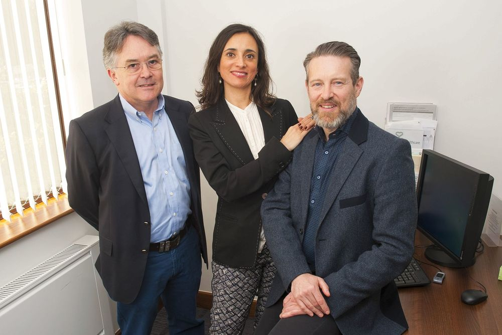 Mike Lousada at the new Sexual Wellness Clinic with partner Dr Louise Mazanti and Surgeon Jeremy Latham | Image by Chris Balcombe via  The Sun