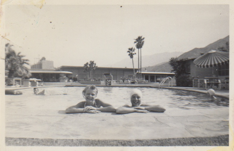 Mom with friend in Palm Springs