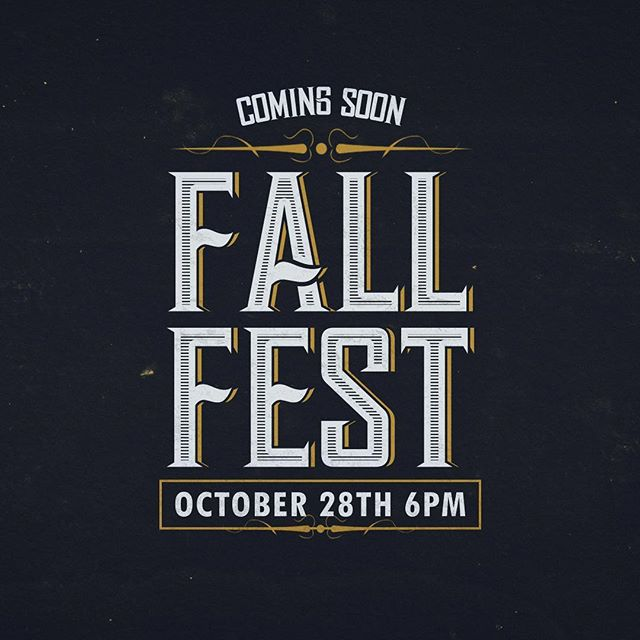 FALL FEST is this October 28th at 6pm! Costume Contest, Food, Games, Prizes, and even a Rock Wall! Come out to WBF for a great time!