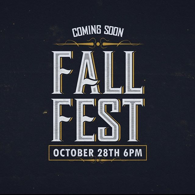 FALL FEST IS GOING TO BE GOING DOWN TONIGHT! Come on down for great food and fun!