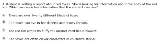 SBAC - Grade 3 - ELA Practice Test - Sample Question