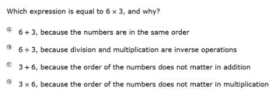SBAC - Grade 3 - Mathematics Practice Test - Sample Question