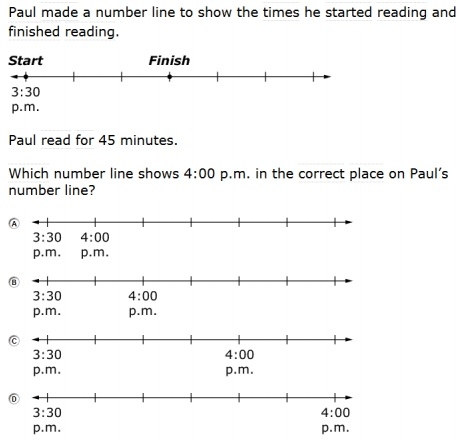 SBAC - Grade 3 - Mathematics Modeling and Data Analysis Sample Question