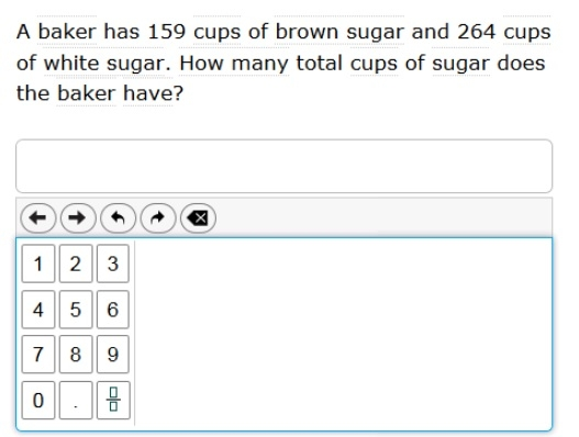 SBAC - Grade 4 - Mathematics Practice Test - Sample Question