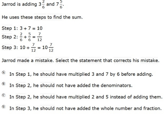 SBAC - Grade 4 - Mathematics Practice Test - Sample Question2