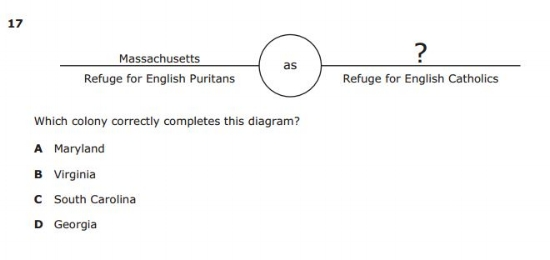 Social Studies Diagram  STAAR  sample question