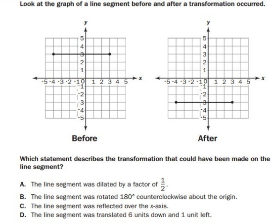 gmas - 8th  Grade Geometry sample
