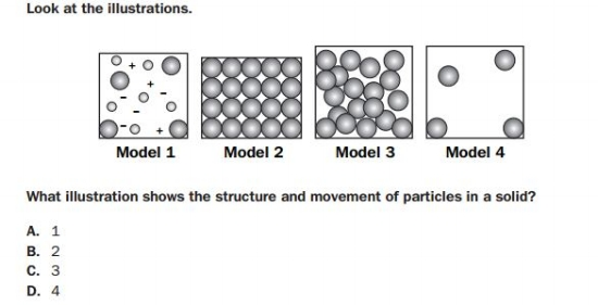 GMAS - 8th  Grade Structure of Matter sample