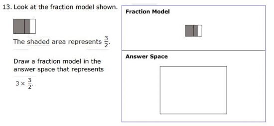 SBAC - 5th Grade -  Fractions sample