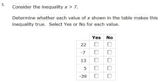 sbac -  6th gradeInequality sample