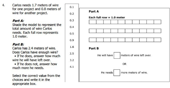 Smarter Balanced Practice Test -  6th gradeProblem Solving sample