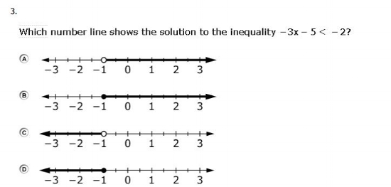 OAKS Practice Test  - 7th grade Algebra sample