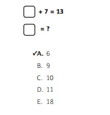 NWEA Practice Test 3rd Grade Test - Algebraic Concepts sample