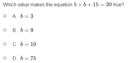 MCA Practice Test - 5th Algebra sample