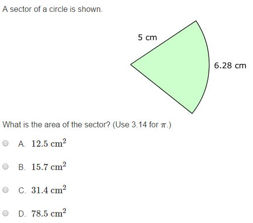 MCA Practice Test - 7th Geometry sample