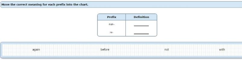 NWEA Practice Tests - Prefixes sample