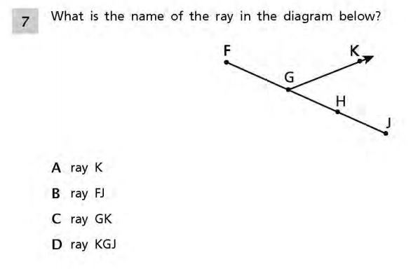 NYS Math Practice Test 4th Grade -  Geometry sample