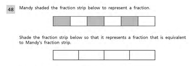 NYS Math Practice Test 4th Grade - Short Responses 1 sample