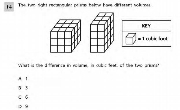 NYS Math Practice Test 5th Grade - Volume sample