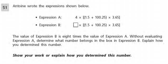 NYS Math Practice Test 5th Grade - Short Responses 3 sample