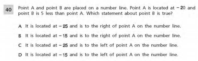 NYS Math Practice Test 6th Grade - Number System sample
