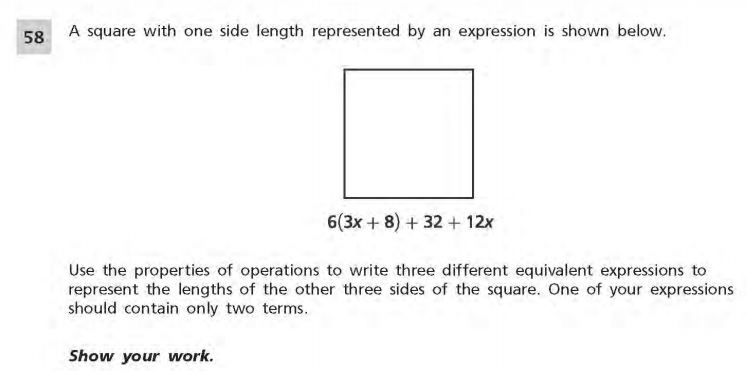 NYS Math Practice Test 6th Grade - Short Responses 3 sample