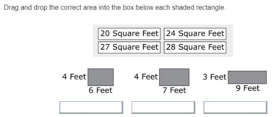 PARCC - 3rd grade Geometry sample question