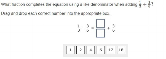 PARCC - Fractions sample