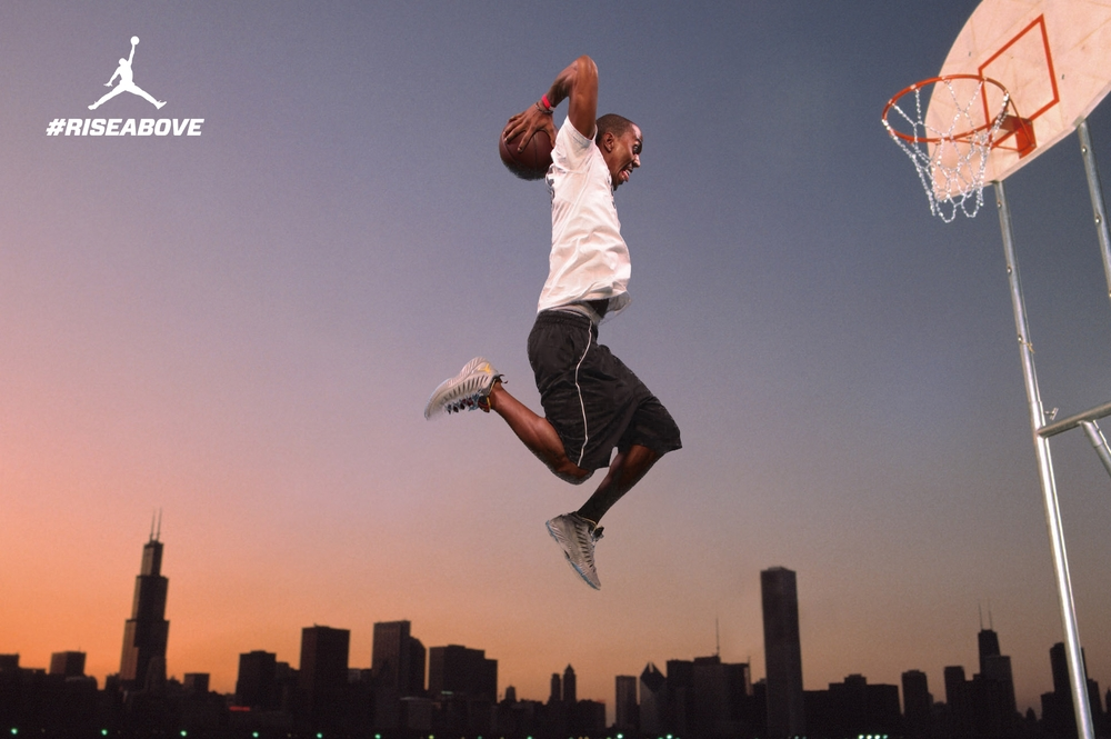 Fans were inserted into the classic Jumpman Jordan ad from the 80s at the World Basketball Festival.