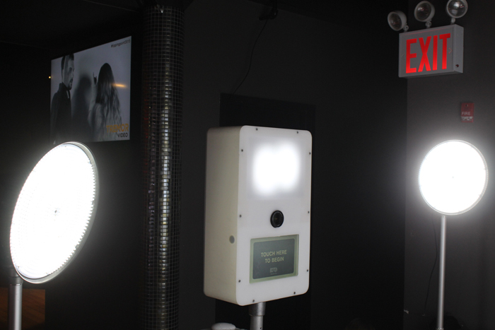video booth front view
