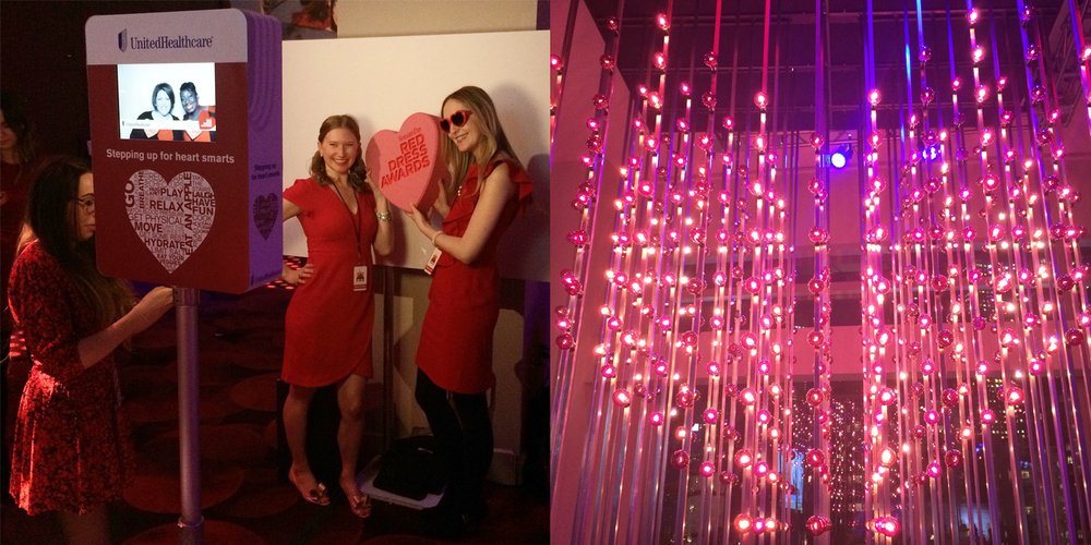 custom photo booth Action Red Dress Awards 2015