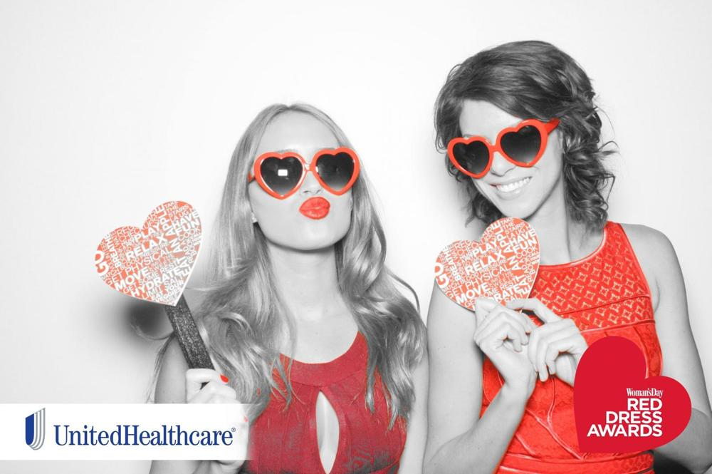 Custom Photo Booth Picure, Red Dress Awards 2015