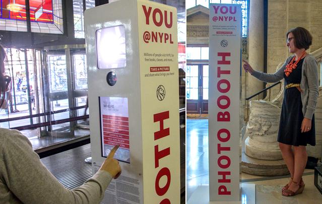 NYPL Photo Booth Kiosk
